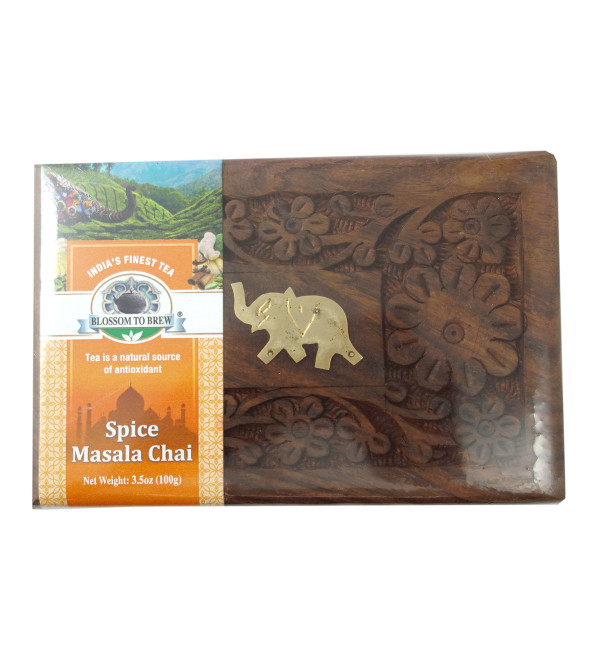 Spice Chai 100 GM Wooden Box