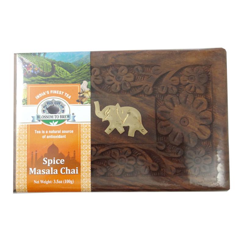 Spice Chai 100 GM Wooden Box