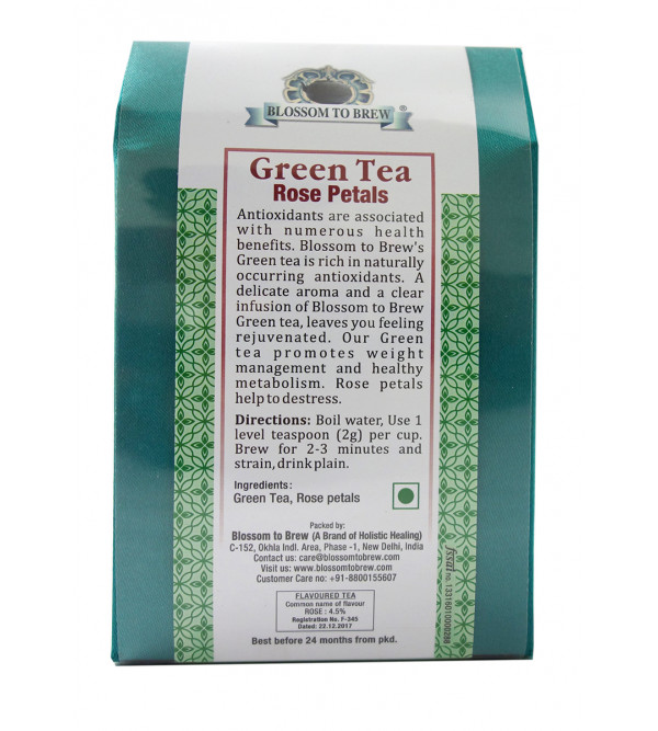 Green tea Rose Petas 100gm