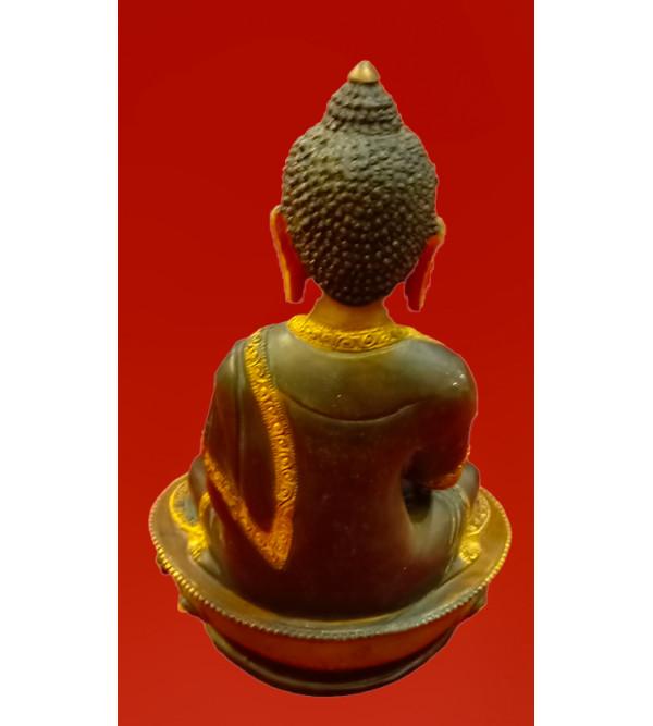 BUDDHA DOUBLE LOTUS gold face