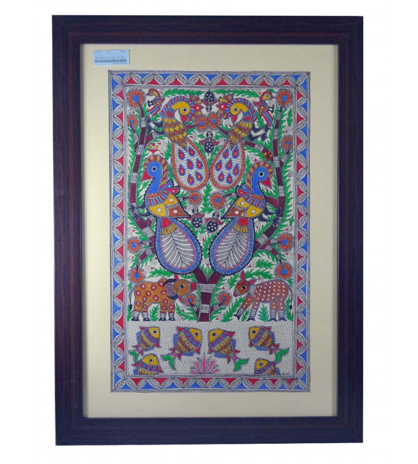 Handmade Madhubani painting  24x17cm