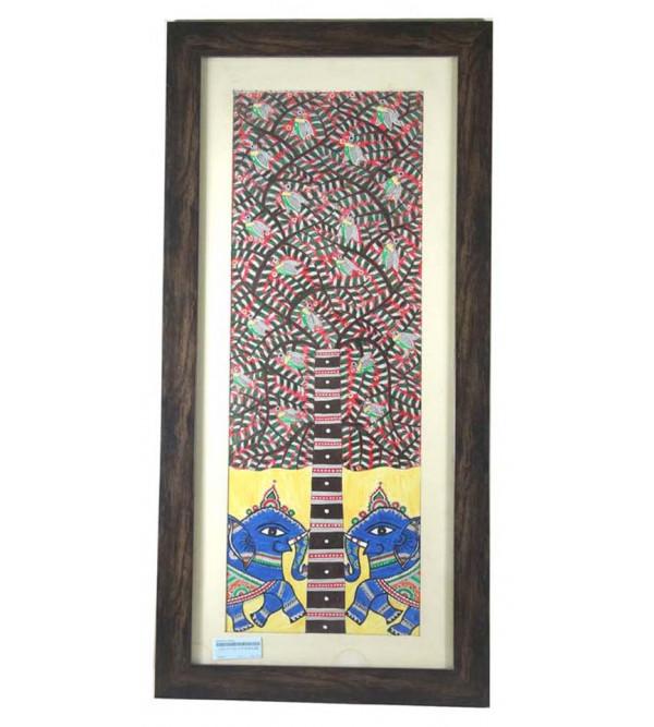 Handmade Madhubani painting 34x16 cm