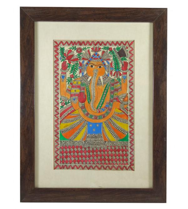 Handmade Madhubani painting Ganesh