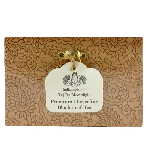 WOODEN CHESTLET PREMIUM DARJEELING BLACK LEAF TEA 125 GM ASSORTED