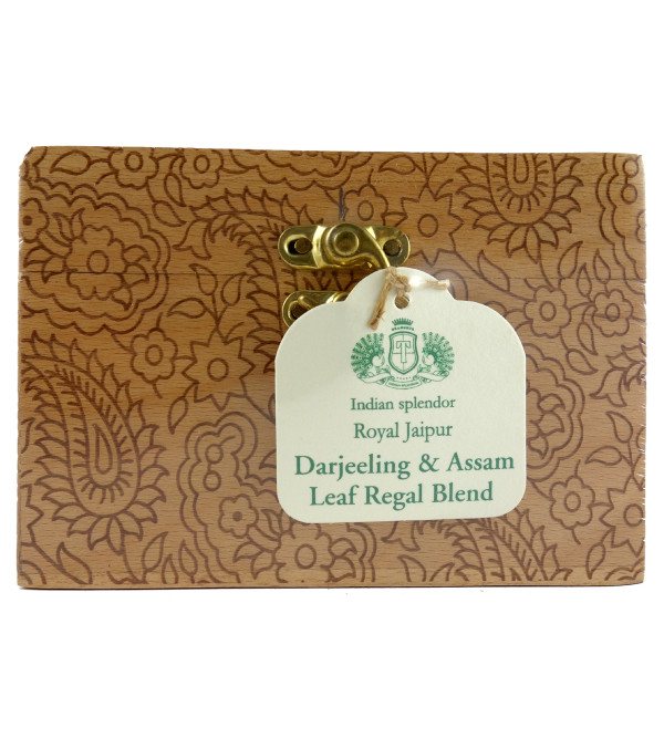 ROYAL JAIPUR DARJEELING AND ASSAM REGAL BLEND TEA 125 GM ASSORTED WOODEN CHESTLET