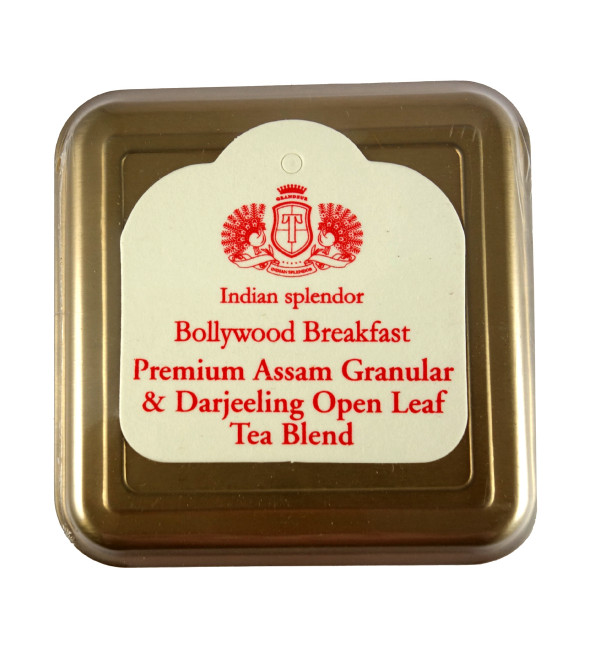 PREMIUM ASSAM GRANULAR AND DARJEELING OPEN LEAF TEA 125 GM ASSORTED METAL CADDY