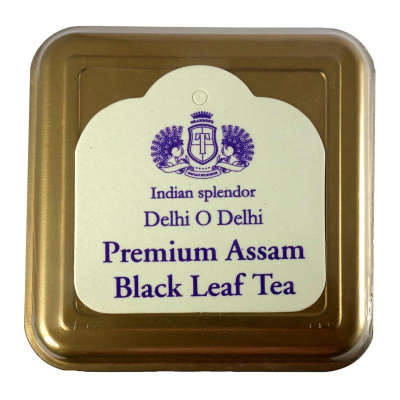 PREMIUM ASSAM BLACK LEAF TEA 125 GM ASSORTED METAL CADDY