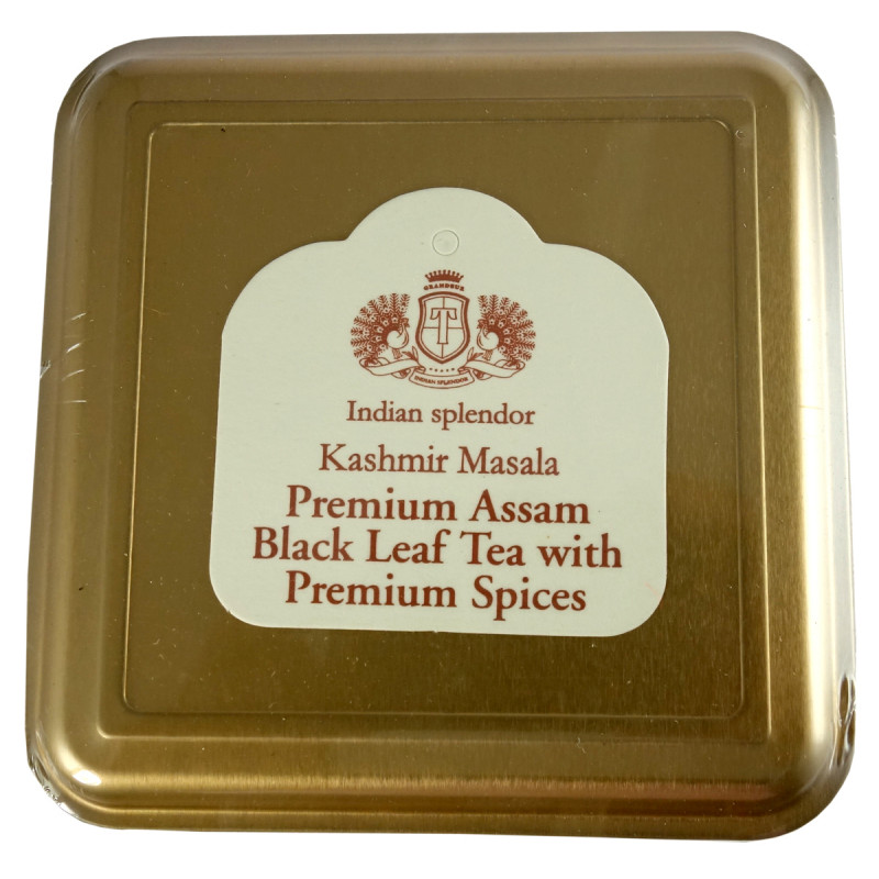 KASHMIR MASALA ASSAM BLACK LEAF TEA 250 GM ASSORTED METAL CADDY