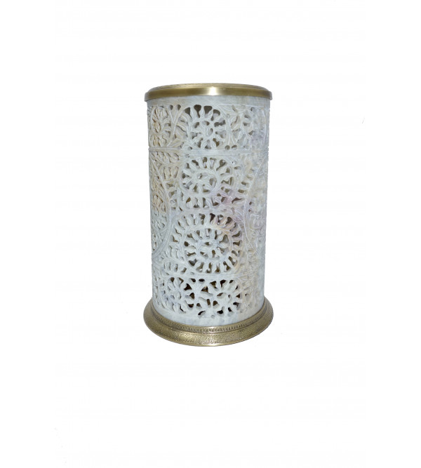 CANDLE STAND SOAP STONE  8 inch