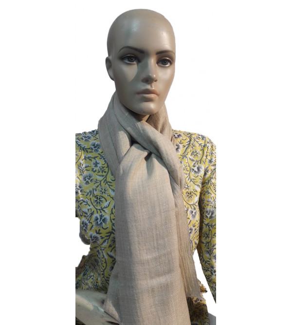 Cashmere Hand Woven Pashmina Plain Stole Size,28X80 Inch