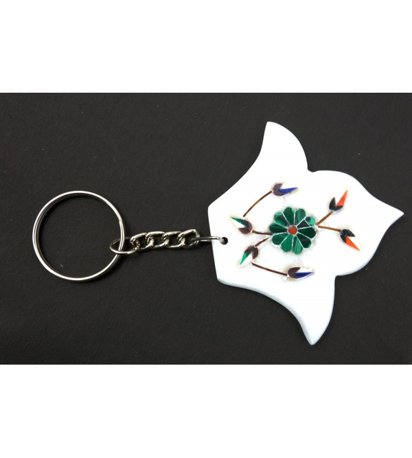 HANDICRAFT MARBLE  KEY CHAIN ASSORTED