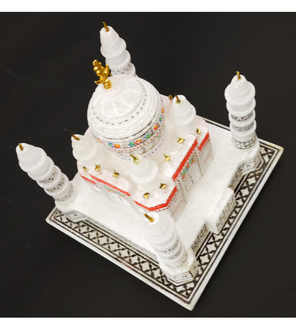 HANDICRAFT MARBLE TAJ MAHAL 4 inch   ASSORTED