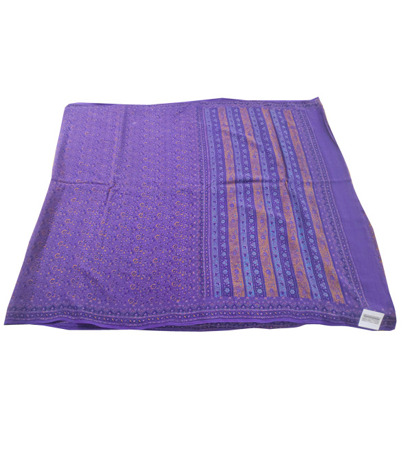 Crape Silk Printed Saree without Blouse