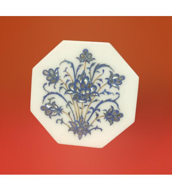 Marble Box with semi precious stone inlay Size 5x5 inch