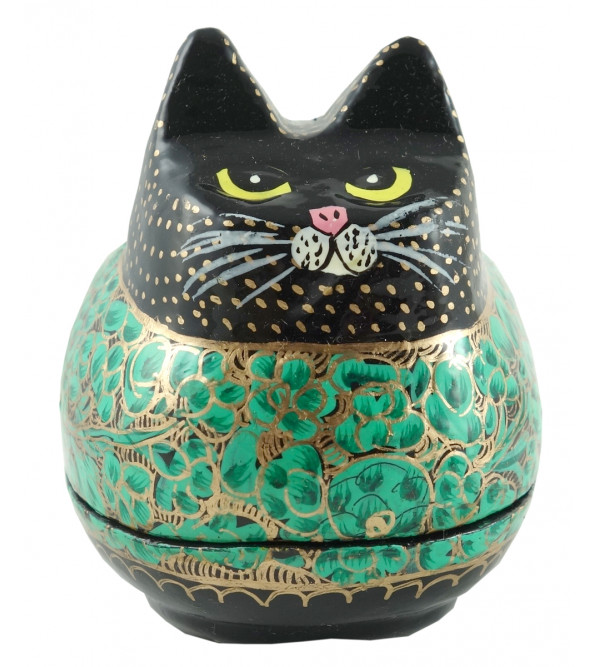 PAPER MACHE CAT BOX ASSORTED COLOR AND DESIGN MEDIUM SIZSE