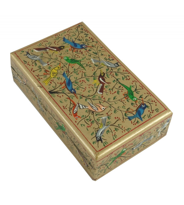 PAPER MACHE BOX MUGHAL ASSORTED DESIGN AND COLOR 3X5 INCH