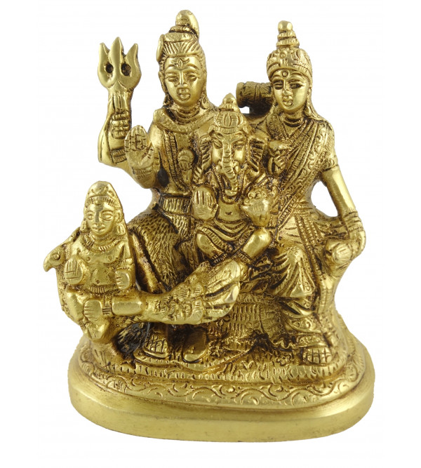 HANDICRAFT BRASS  SHIV PARIVAR 4.5 INCH