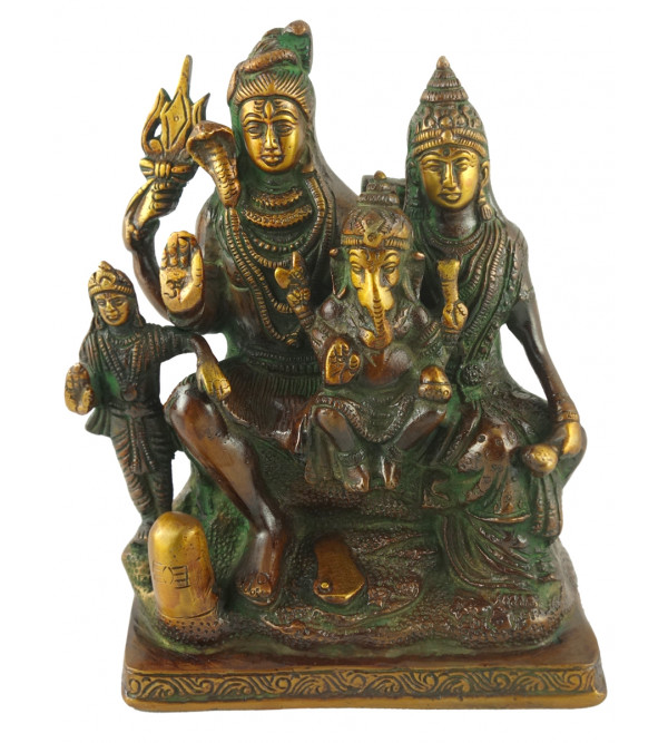 HANDICRAFT BRASS  SHIV PARIVAR 7.5 INCH