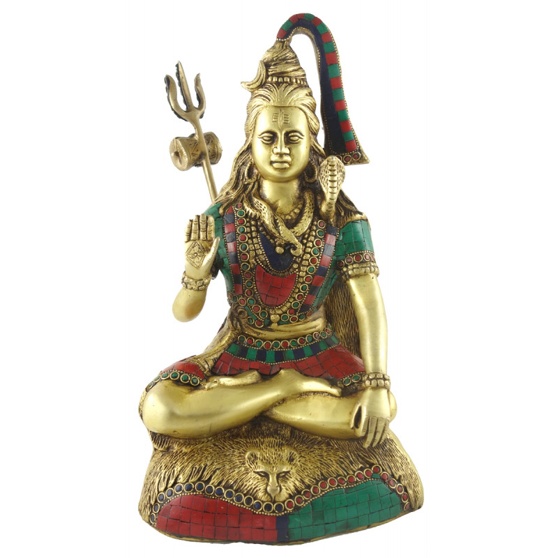 HANDICRAFT BRASS  SHIVA SITTING 13 INCH