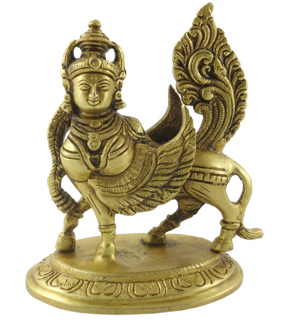 HANDICRAFT BRASS  Kamdhenu with calf 6 INCH