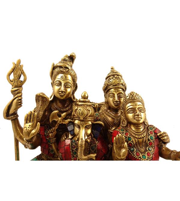 Handicraft Brass Shiv Parivar 12 Inch