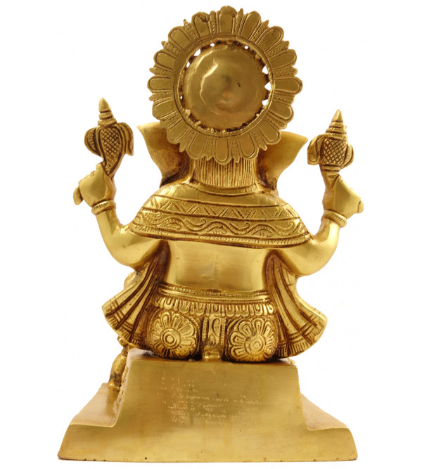 Handicraft Brass Ganesha Sitting  10 Inch