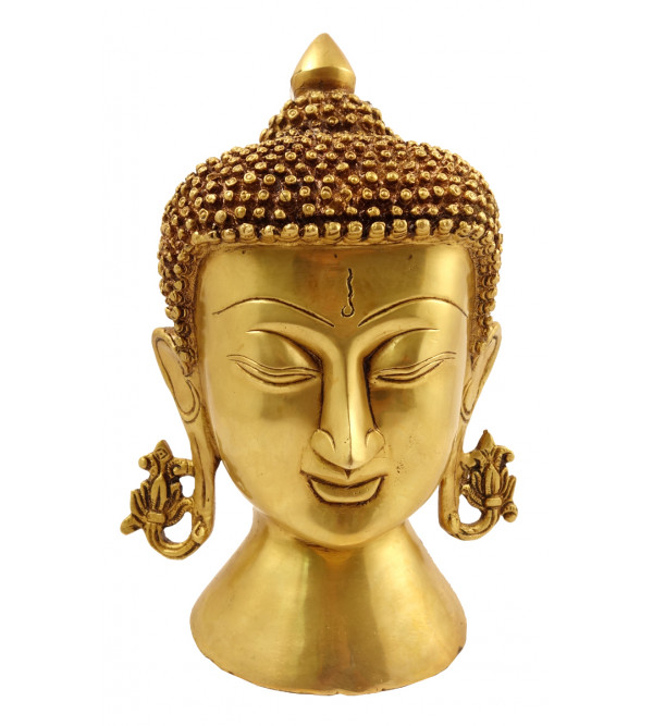 Handicraft Brass Buddha Head 8 Inch