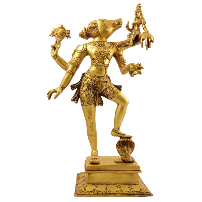 Handicraft Brass Figure Varahlaxmi 17 Inch