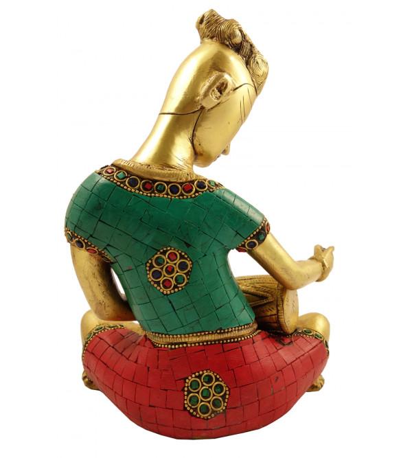 Handicraft Brass Musician figure 9 Inch