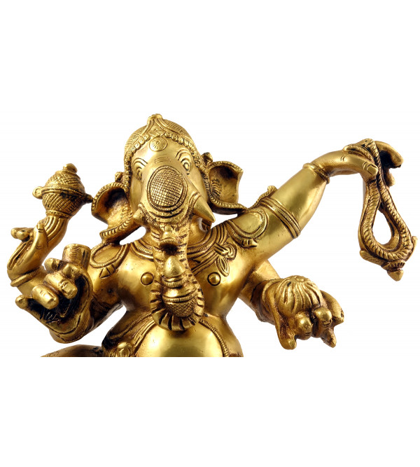 Handicraft Brass Dancing Ganesh 17 Inch