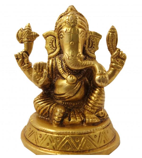 Handicraft Brass Laxmi Ganesh 7 Cm