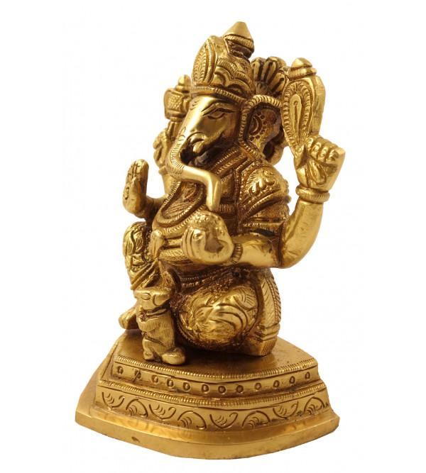 Hanicraft Brass Ganesha 5 Inch