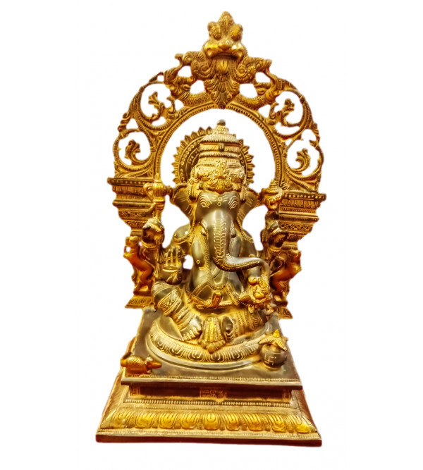 Ganesh Handcrafted In Bronze Size 16 Inches