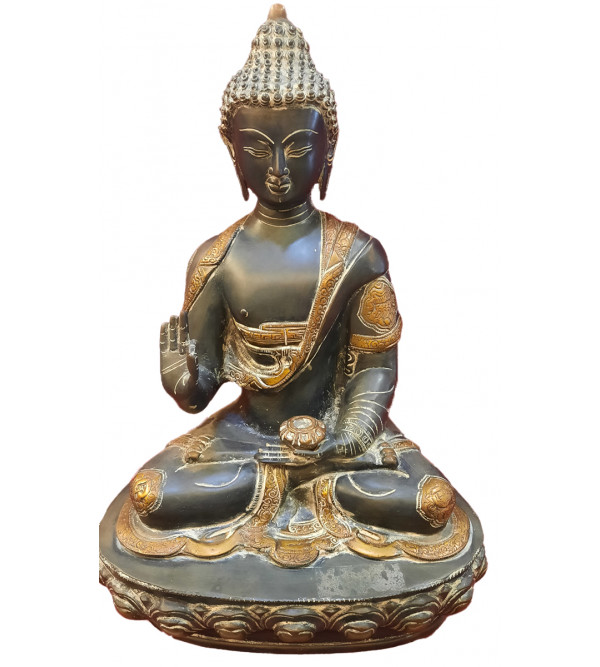 Buddha Double Lotus Handcrafted In Brass