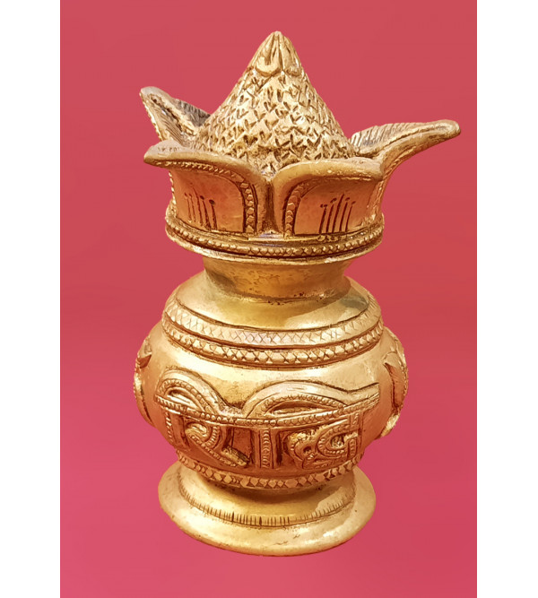 Kalash Carved Handcrafted In Brass