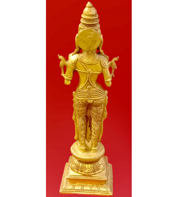 Deep Laxmi Handcrafted In Brass Size 17 Inches