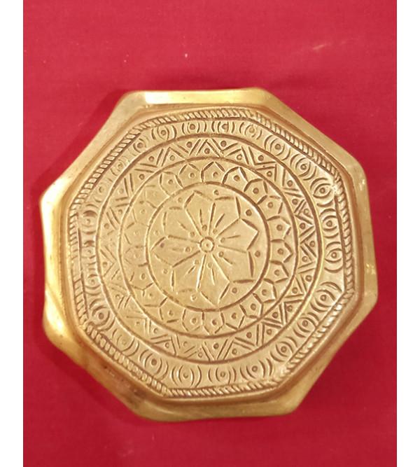 Brass Handcrafted Chowki 5inch