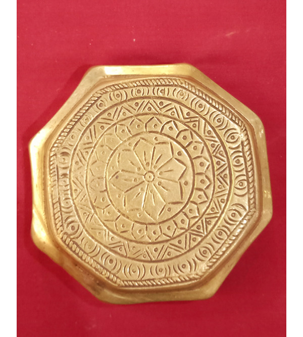 Chowki Handcrafted In Brass Size 5 Inches