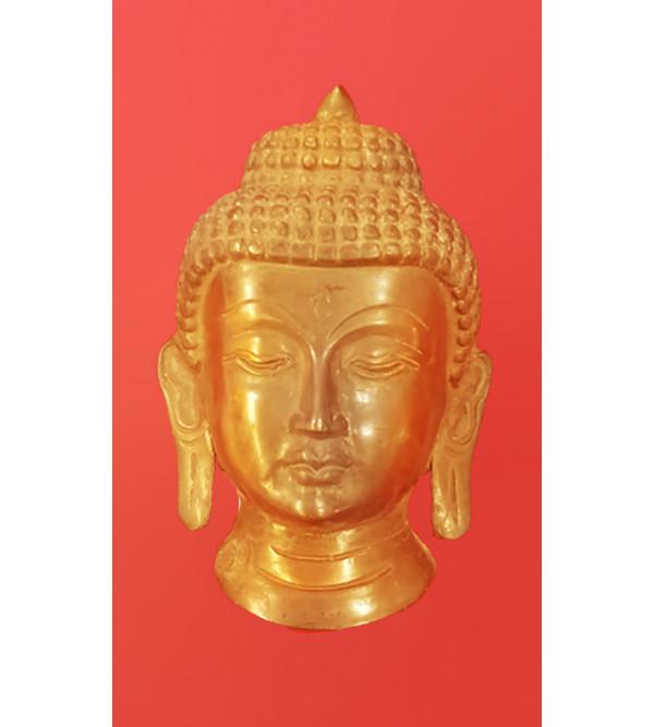 Brass Handcrafted Buddha Mask 5inch