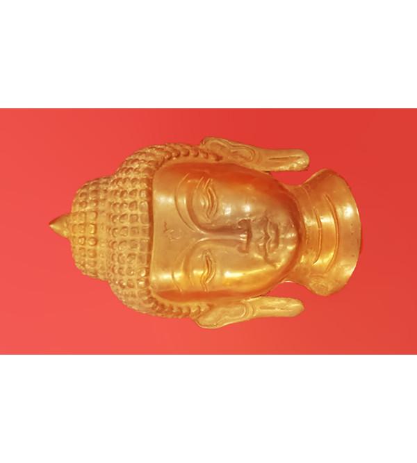 BRASS BUDHA MASK 5 INCH