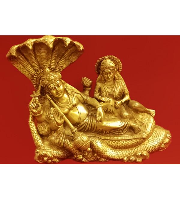 Brass Handcrafted Vishnu Laxmi Sitting 10inch