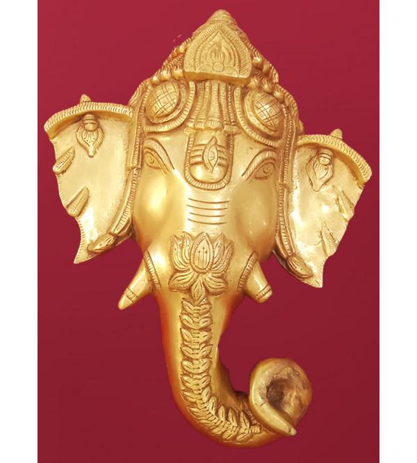 Brass Handcrafted Ganesh Mask  11 inch