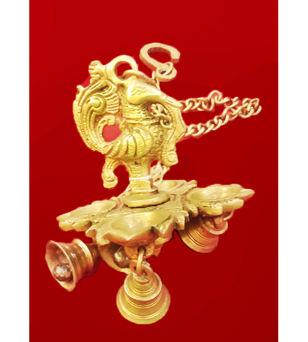 Brass LAMP WITH CHAIN