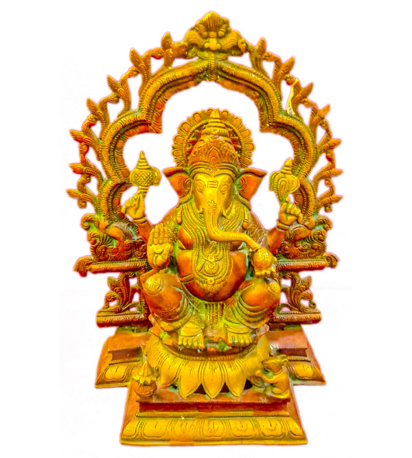 Brass Ganesh Ring antique colour15 inch