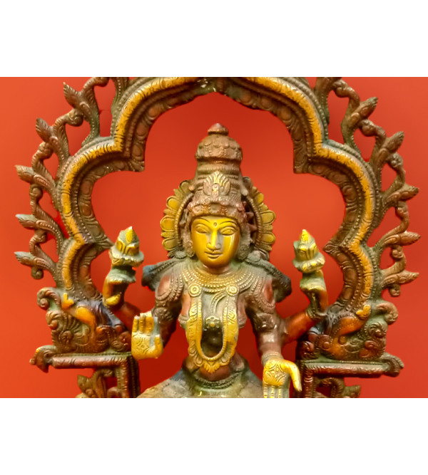 Brass Handcrafted  Laxmi Sitting 15 Inch