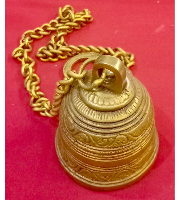 Brass Bell hanging big 2.5 inch diameter