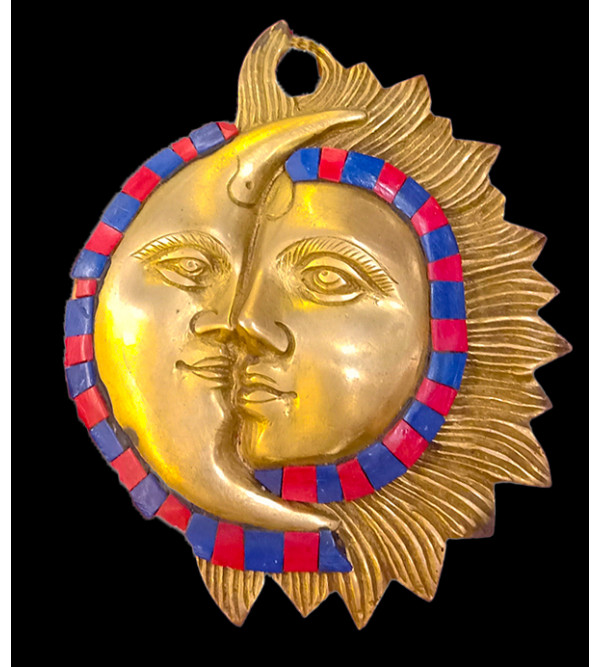 Brass Handcrafted  Sun Mask 6 inch