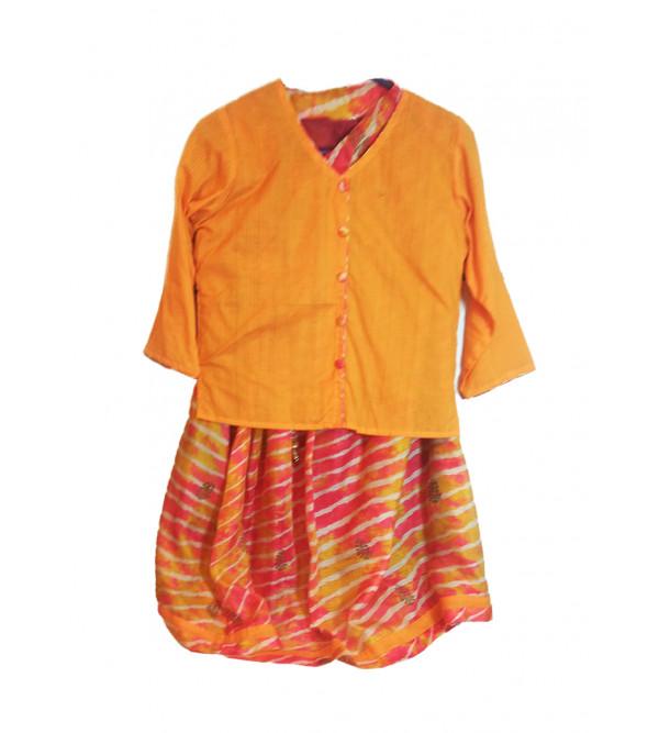 Cotton Lehenga Choli Set Size 10 To12 Year