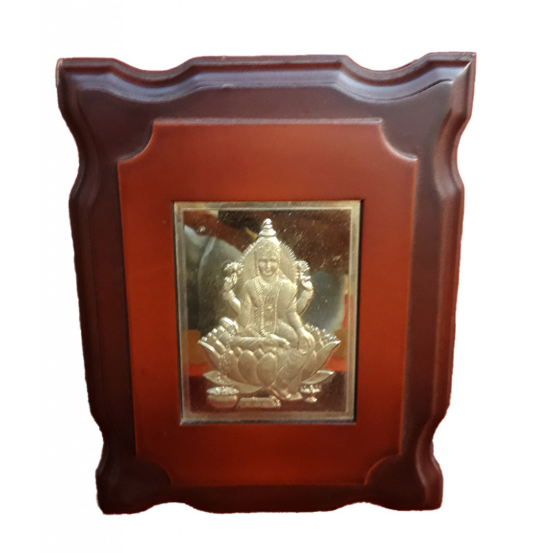 MOMENTO GOLD PLATEDL LAXMI JI 6x7 INCH WITH WDN.FRAME