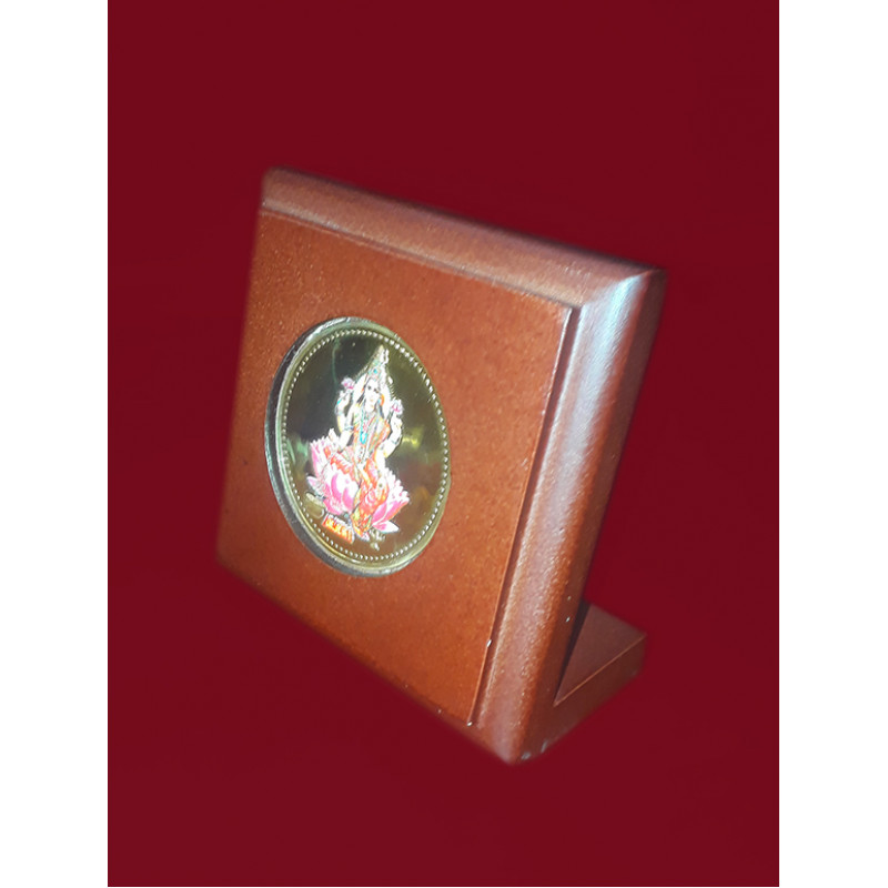 MOMENTO GOLD PLATED LAXMI JI 3X3INCH WITH WDN. FRAME
